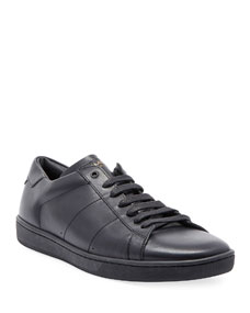 Men's Sl01 Leather Low Top Sneakers by Saint Laurent