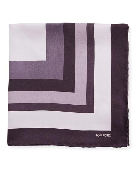 TOM FORD Opposite Box Pocket Square, Dark Purple