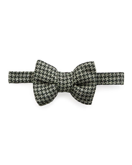 Houndstooth Classic Bow Tie