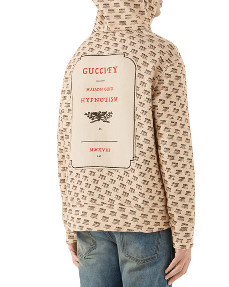 3560b56ed Gucci Guccify Logo-Print Hoodie
