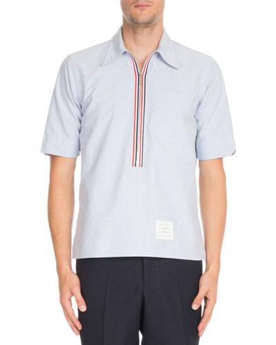 Half-Zip Pullover Oxford Shirt
