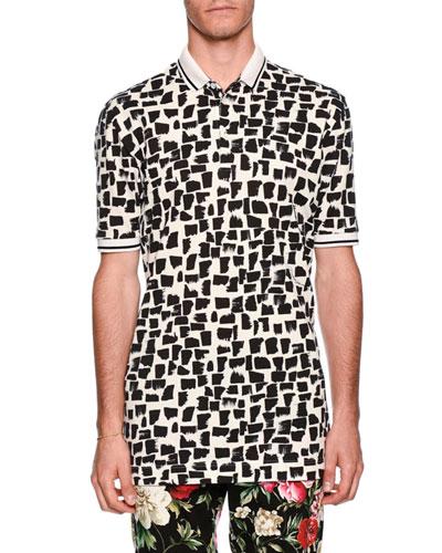 Spot-Print Polo Shirt