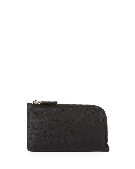 Prada Saffiano Leather Portfolio Card Case