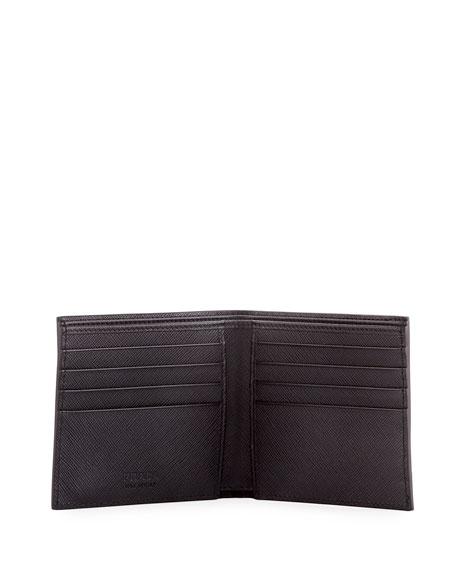 Saffiano Surf Colorblock Leather Bi-Fold Wallet