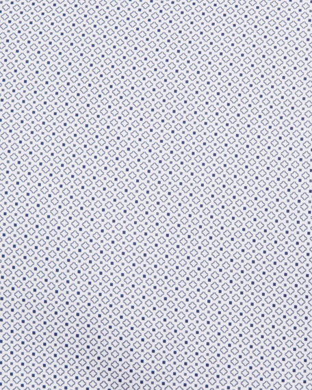 Micro-Print Cotton Sport Shirt