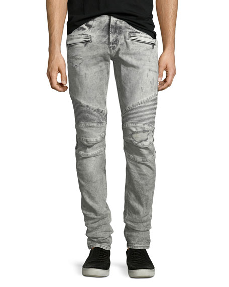 Hudson Men's Blinder Biker Jeans, Carbon Deconstructed -