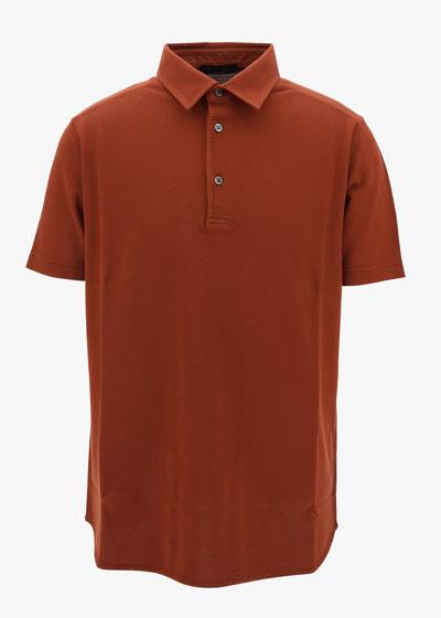 3-Button Cotton Polo Shirt