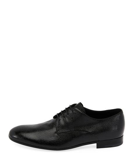 Vernice Olona Textured Leather Oxford Shoe