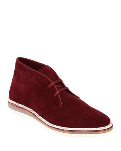 Yankee Suede Chukka Boot, Red