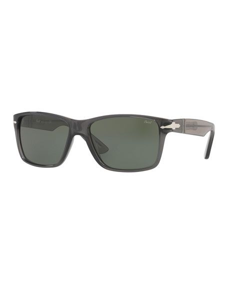 Square Plastic Sunglasses, Gray