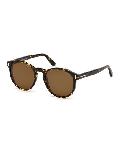 Ian Round Acetate Sunglasses, Brown