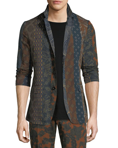 Billy Reversible Graphic Three-Button Jacket