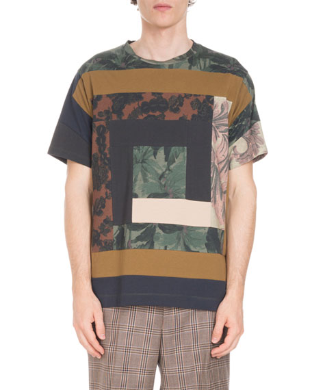 Hector Pieced Square Printed T-Shirt