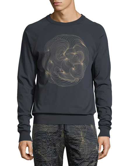 Swirl-Print Cotton Sweatshirt