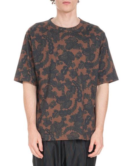 Floral-Print Crewneck T-Shirt