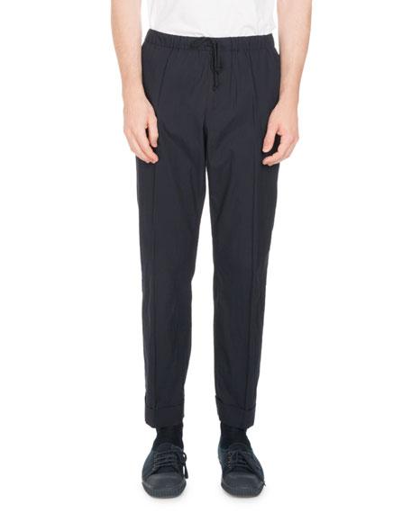Perkino Cotton Drawstring-Waist Pants