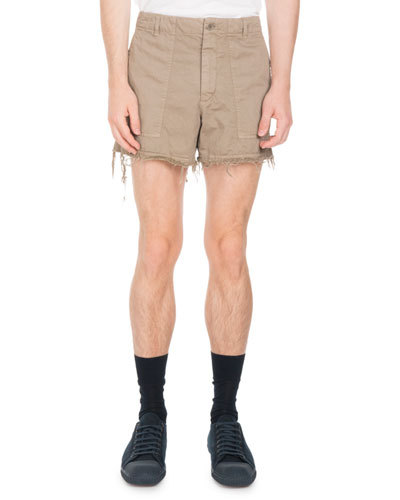 Frayed-Edge Cutoff Shorts
