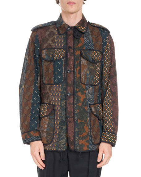 Safari Patched Stripe Jacket