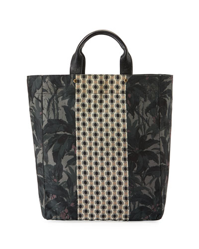 Men's Multi-Print Shopper Tote Bag