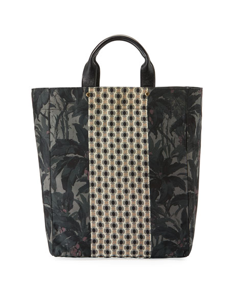 Men's Multi-Print Shopper Tote Bag