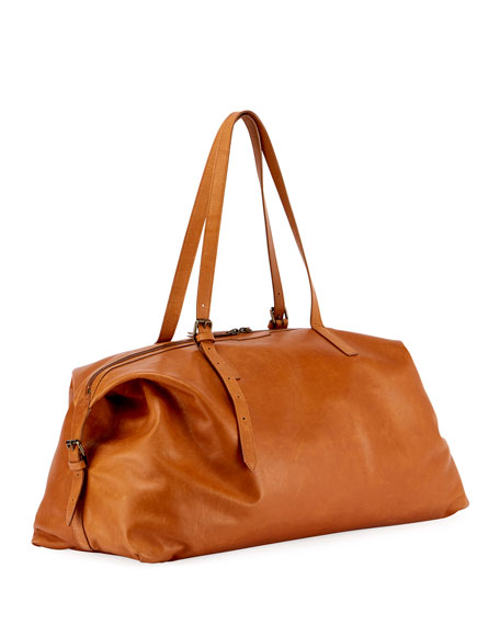Large Leather Weekender Bag