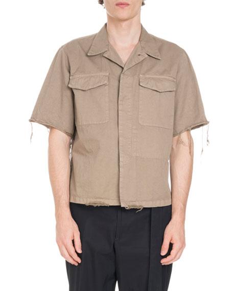 Carnegie Frayed-Edge 2-Pocket Shirt