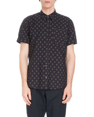 Short-Sleeve Geo-Print Shirt