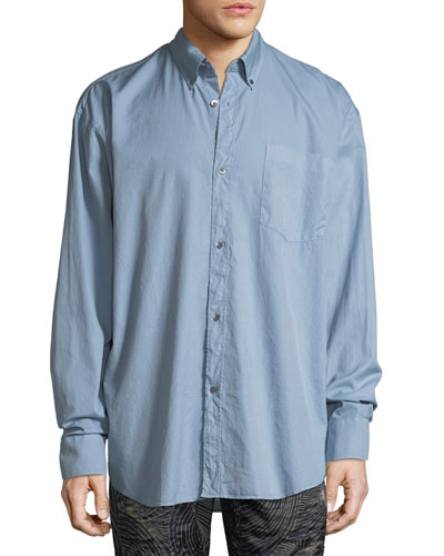 Oversized Chambray Oxford Shirt