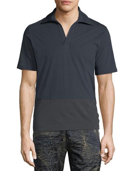 1abcebd232 Dries Van Noten Contrast-Trim Polo Shirt