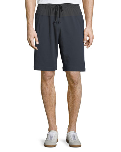 Bicolor Cotton Gym Shorts