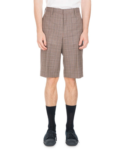 Wool Plaid Shorts