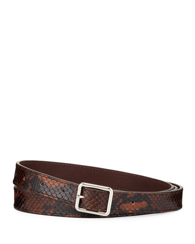 Men's Two-Tone Embossed Leather Belt