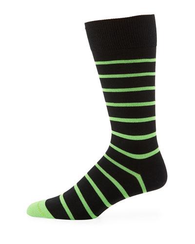 Neon Striped Socks