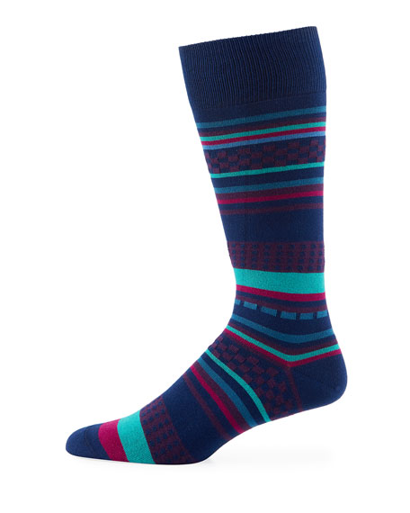 Paul Smith Jiggle Jacquard Striped Socks
