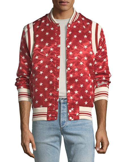 Ovadia & Sons Jackets BALL STAR SATIN BOMBER JACKET