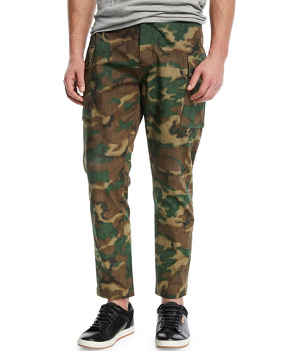 Storm Camouflage-Print Utility Pants