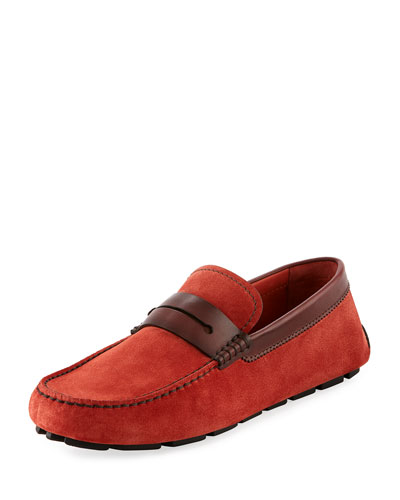 Asola Suede Driver, Red