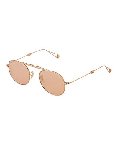 Men's Van Buren Foldable Metal Sunglasses