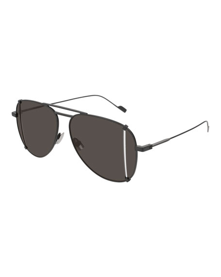 Saint Laurent T-Cut Aviator Sunglasses