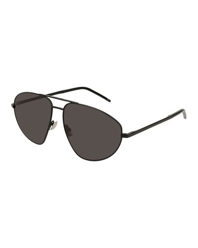 SL 211 Geometric Aviator Sunglasses