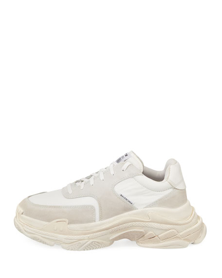 Men's Triple S Tonal Leather Sneakers