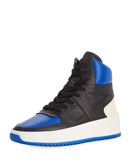 edaf9010ffd2 Fear of God Men s Two-Tone Leather High-Top Basketball Sneakers ...