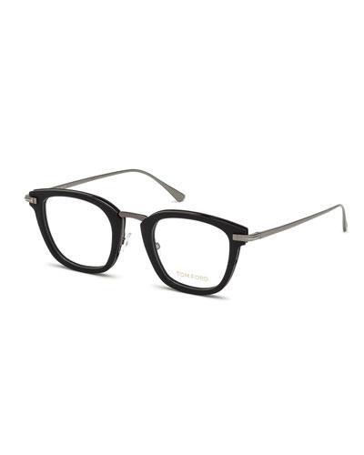 Square Acetate & Metal Glasses