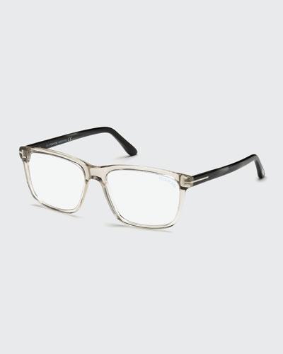 Square Acetate Optical Glasses, Gray