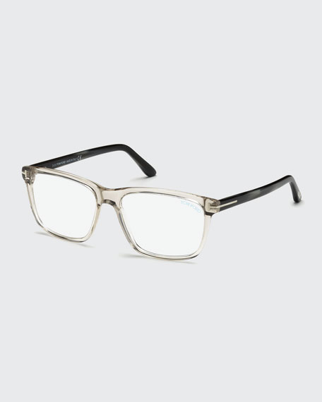 Square Acetate Optical Glasses, Gray