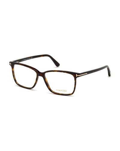 Square Acetate Optical Glasses, Brown