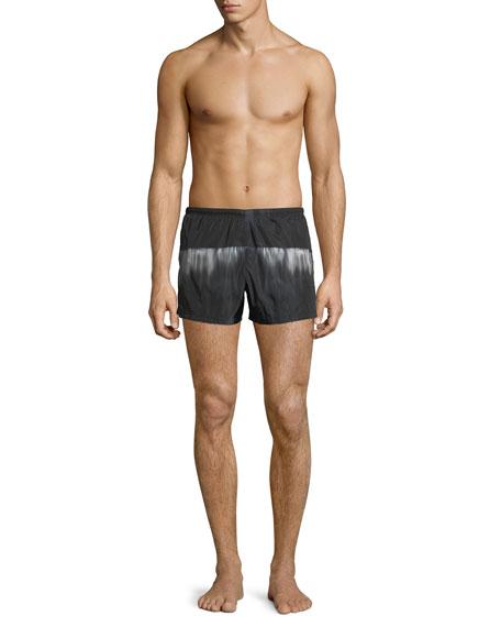 Graphic Nylon Swim Trunks