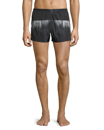 Graphic Nylon Swim Trunks