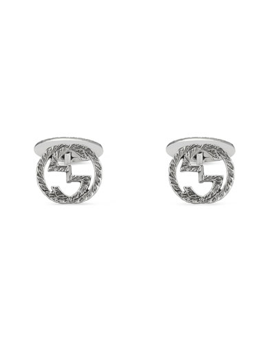 Sterling Silver Interlocking-G Cuff Links