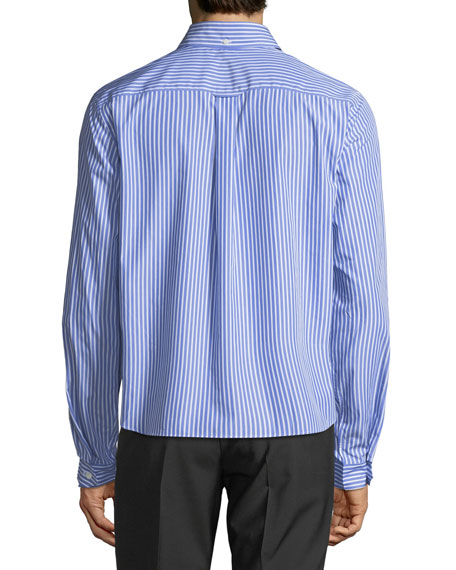 Compact Riga Striped Poplin Shirt